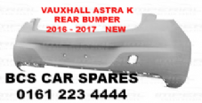 VAUXHALL  ASTRA  K REAR  BUMPER  2016 - 2017  NEW  ( Standard NO parking sensor holes )